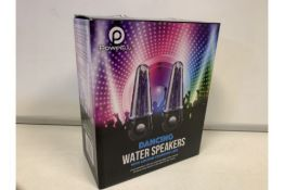 2 X BRAND NEW DANCING WATER SPEAKERS WITH COLOUR CHANGING LEDS (59/26)