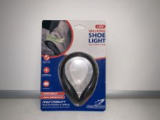 10 X NEW PACKAGED FALCON LED WALKING SHOE LIGHTS. SUPER BRIGHT - FULLY WATERPROOF. (143/26)