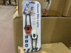 12 X BRAND NEW SILICONE BIKE LIGHT SETS (319/28)