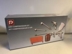 NEW BOXED PP 5 PIECE AIR COMPRESSOR KIT (372/28)