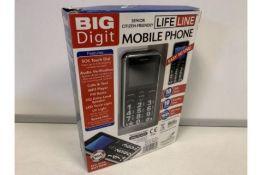 NEW BOXED BIG DIGET MOBILE PHONES. RRP £49.99 (55/26)