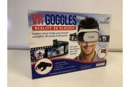 5 X NEW BOXED FALCON VR GOGGLES. REALITY 3D GLASSES (383/28)