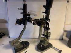 2 X OPTICIANS LENS/MICROSCOPE MACHINES