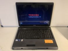 TOSHIBA L350 LAPTOP, WINDOWS 10, 17 INCH SCREEN, 250GB HDD WITH CHARGER