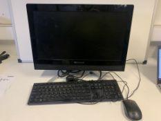 LENOVO C360 ALL IN ONE PC, INTEL G3220T, 2.6GHZ PROCESSOR, 1000GB HARD DRIVE, WINDOWS 10, 19.5
