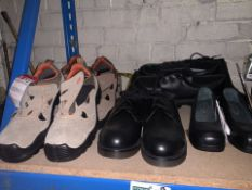 8 x PAIRS OF VARIOUS WORK SHOES/BOOTS TO INCLUDE COFRA, STERLING STEEL ETC IN VARIOUS ISZES (109/
