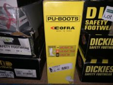 PAIR OF COFRA PU TANKER S5 BOOTS IN SIZE 8 (102/13)
