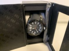 BRAND NEW BOXED BLACK STRAPPED GUESS WATCH