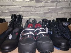 6 x PAIRS OF VARIOUS WORK BOOTS TO INCLUDE COFRA IN VARIOUS SZIES (111/13)