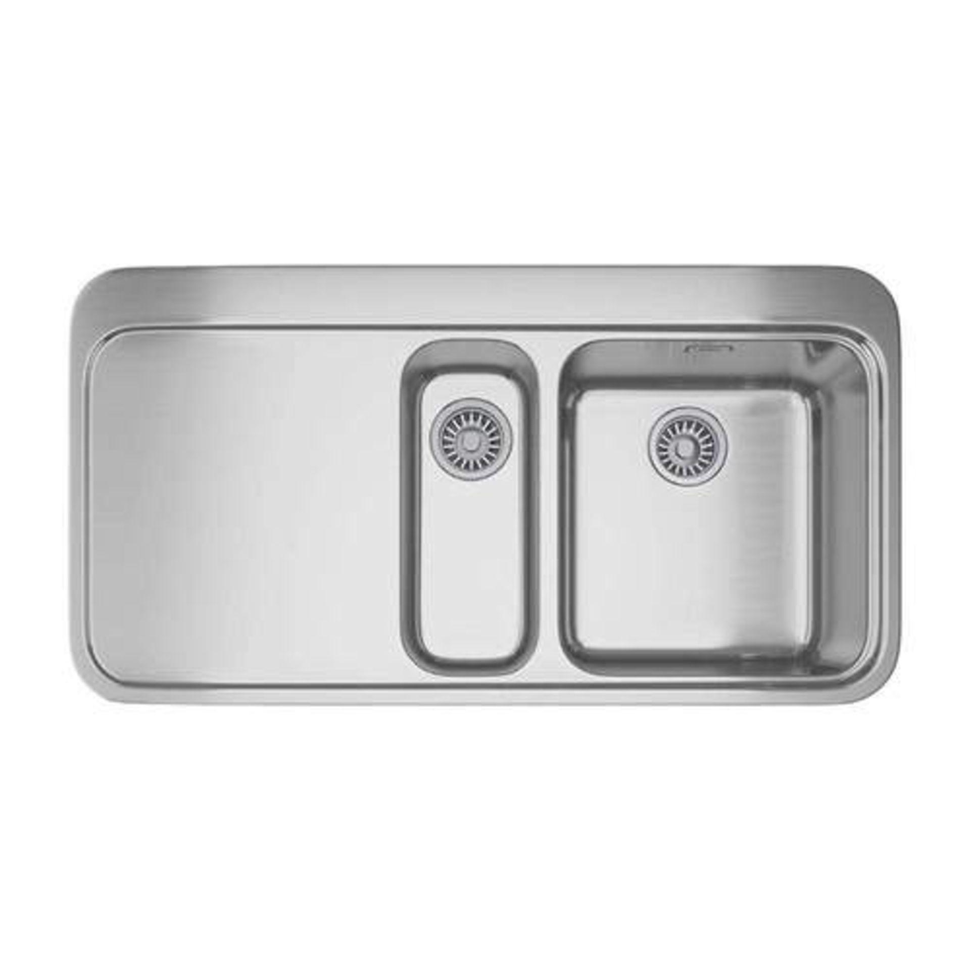 NEW (REF31) Franke Sinos SNX 251 Left Handed Stainless Steel 1.5 Bowl Inset Sink | 127.0364.684. RRP
