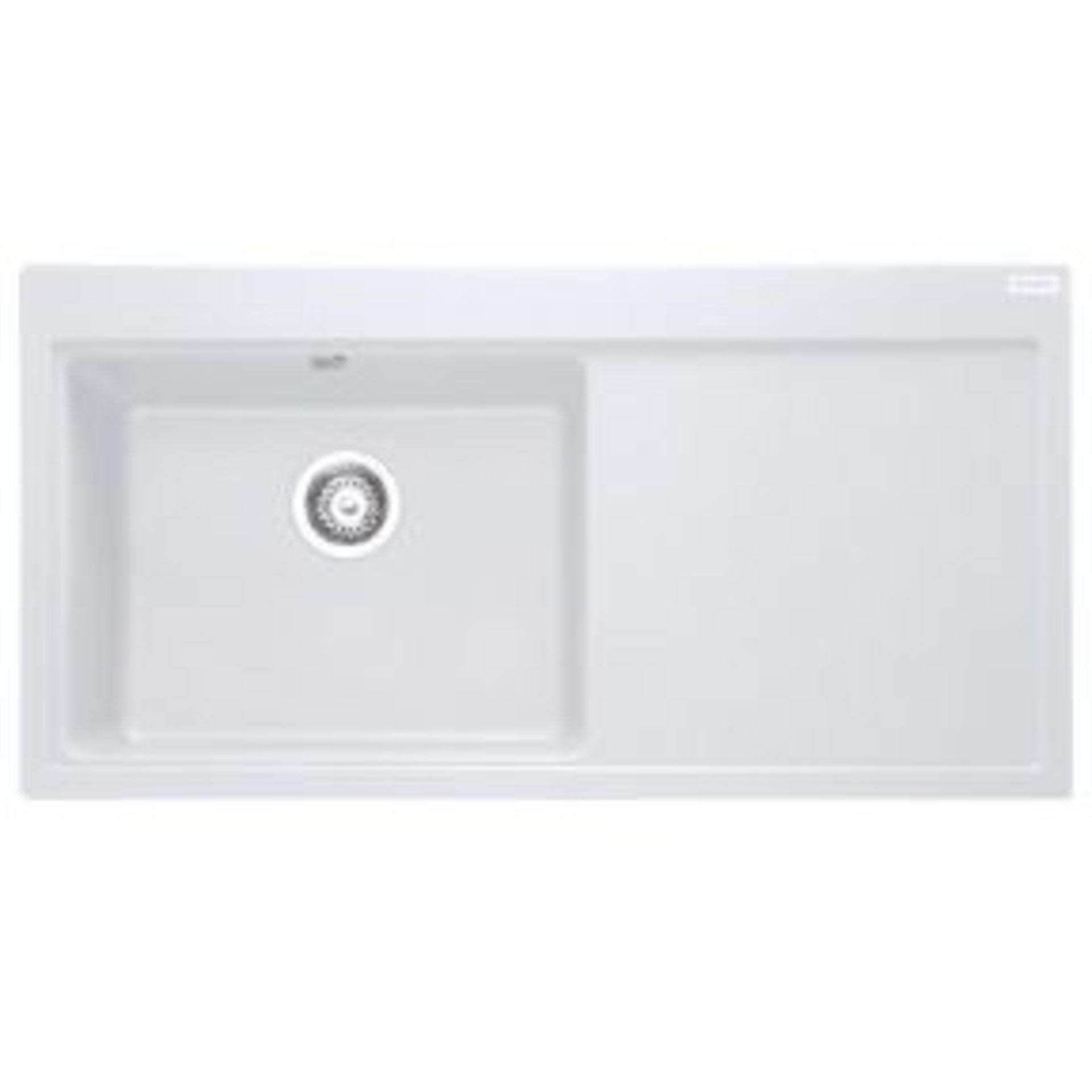 NEW (REF2) 2 x Franke Mythos MTG 611DP Fragnite Kitchen Sink RHD 114.0046.305. RRP £436.44. Colour