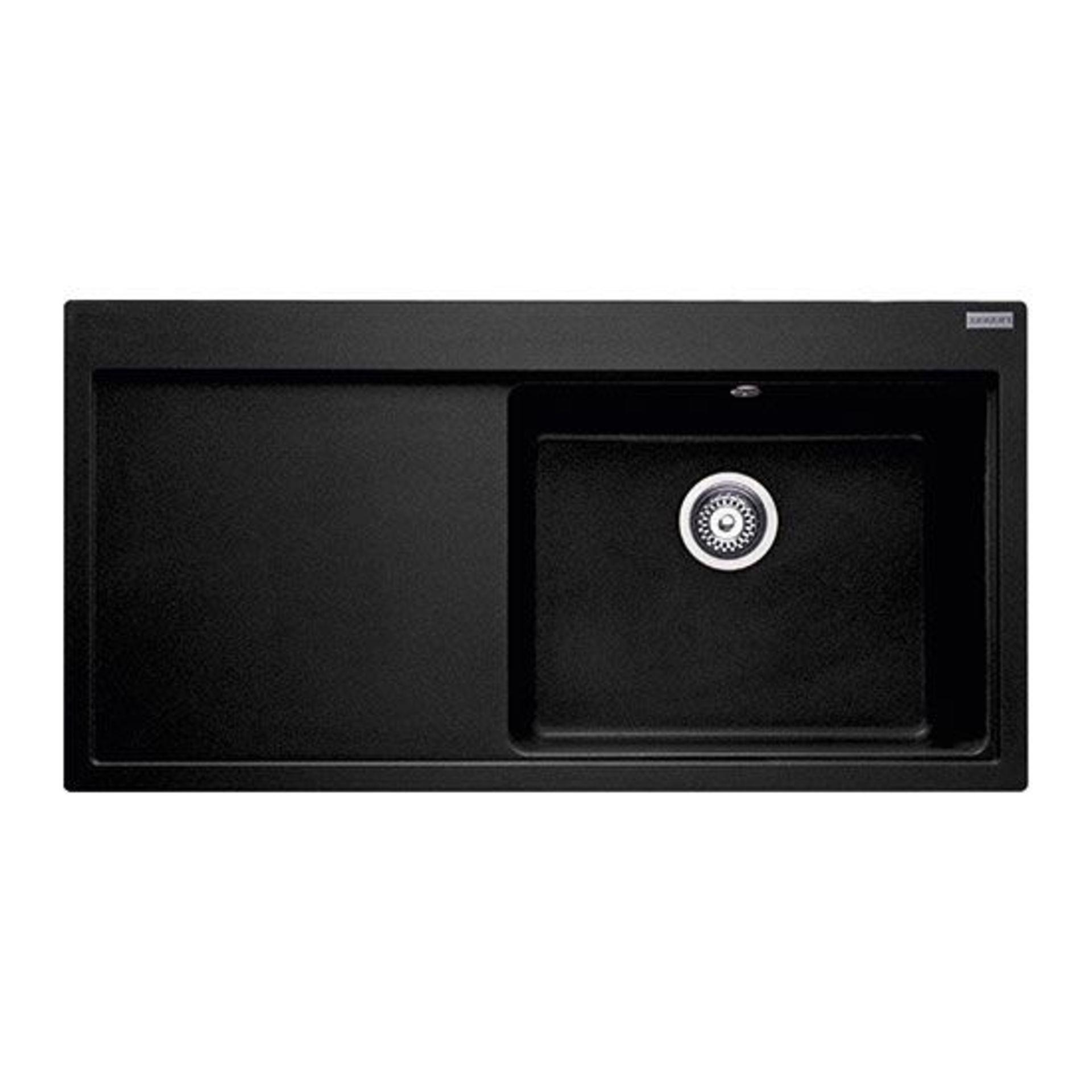 NEW (REF13) 1 x Franke Mythos MTG 611 Fragranite Onyx 1 Bowl Kitchen Sink - Left Hand Drainer 114.