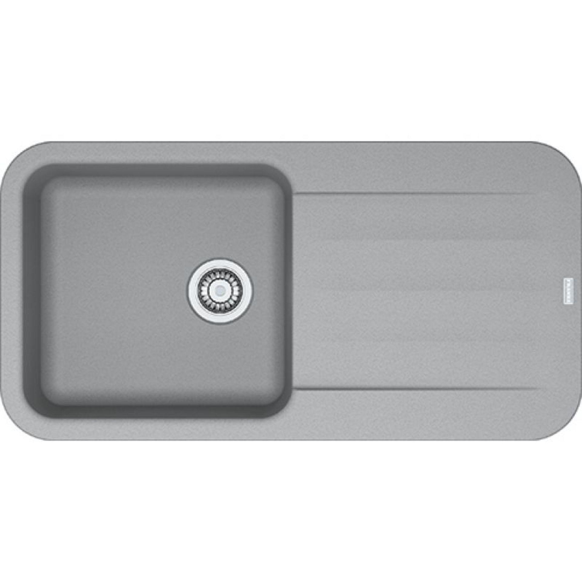 NEW (REF6) 2 x Franke Pebel Reversible Inset 1 Bowl Drainer Fragranite Sink Stone Grey. RRP £329.56.