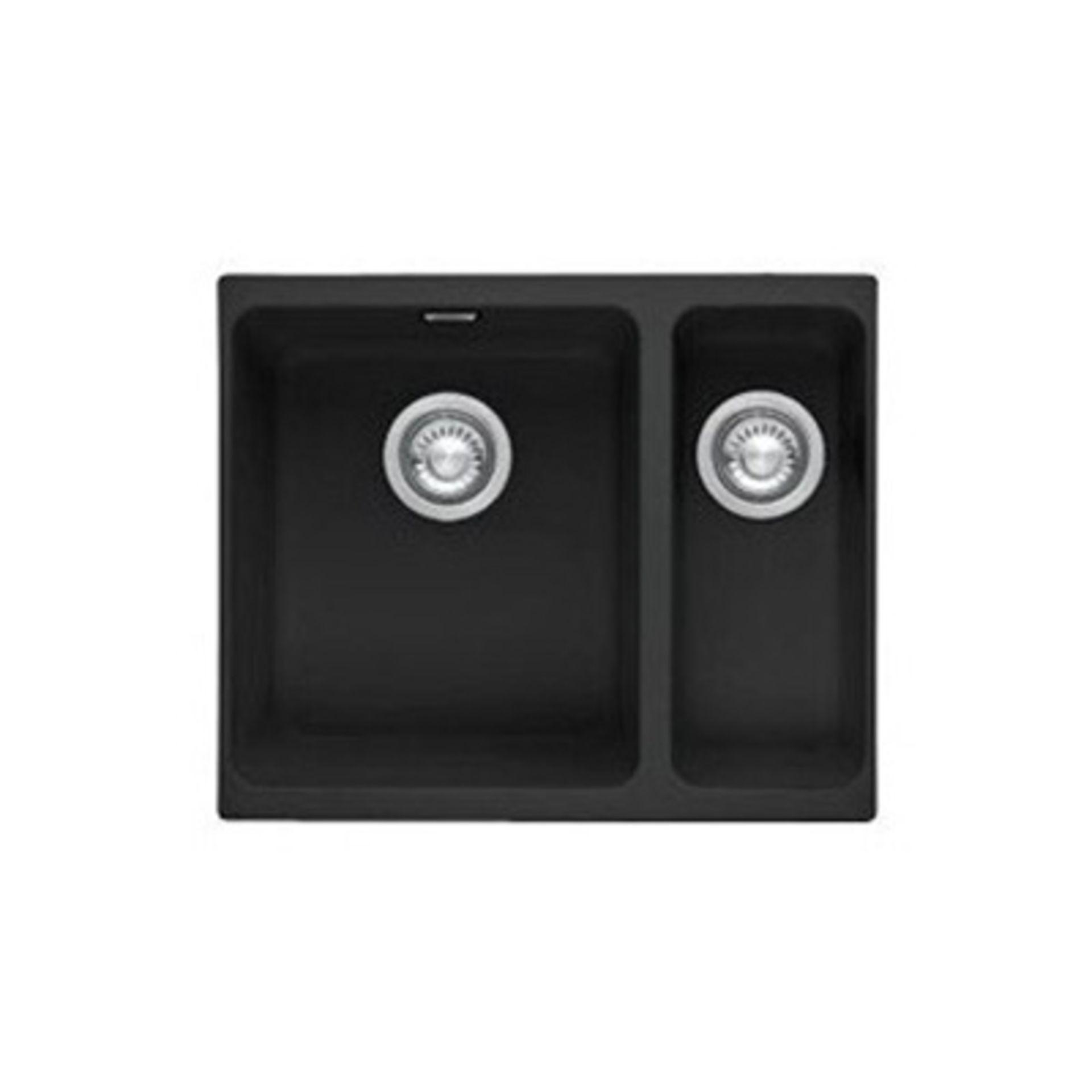 NEW (REF9) 1 x Franke Kubus 1.5 Bowl Fragranite Undermount Kitchen Sink KBG 160 - Onyx - 125.0153.