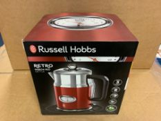 1 X NEW & BOXED RUSSELL HOBBS RIBBON RED KETTLE