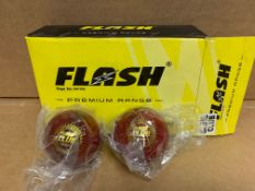 1 X 6 PACK NEW & BOXED FLASH PREMIUM RANGE LEATHER BALLS