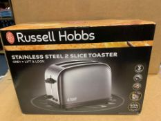 1 X NEW & BOXED RUSSELL HOBBS 2 SLICE TOASTER