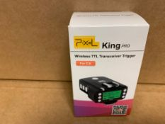 1 X NEW & BOXED PXL KING PRO WIRELESS TTL TRANSCEIVER TRIGGER