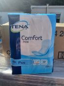 NO VAT(E48) PALLET TO CONTAIN 129 x NEW PACKS OF 28 TENA COMFORT MINI PLUS HIGHLY ABSORBANT PADS.