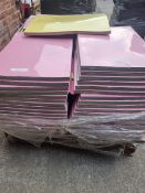 (L5) PALLET TO CONTAIN 45 x PACKS OF 100 PASTEL COLOURS RECYCLES BOARDS 450x640x230mics PAPER.