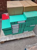 (L7) PALLET TO CONTAIN 68 x NEW PRESSBOARD BOX FILES. RRP £9.99 EACH