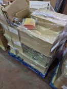 (A3) PALLET TO CONTAIN A LARGE QUANTITY OF VARIOUS ITEMS TO INCLUDE: ARAVEN TRAYS,, MICROWAVE