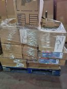 (A1) PALLET TO CONTAIN A LARGE QUANTITY OF VARIOUS ITEMS TO INCLUDE: ENDESSA 355ML GLASSES, LARGE