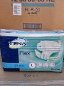 NO VAT (E52) PALLET TO CONTAIN 24 x NEW PACKS OF 30 TENA FLEX PLUS LARGE. ERGONMIC, EASY USE BELT,