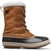 (44) BOX LOT TO INCLUDE 2 ITEMS: 1X Sorel 1964 Pac Nylon Mens Waterproof Boots[Colour:Nutmeg/