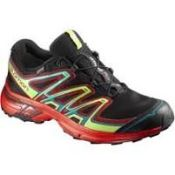 (25) BOX LOT TO INCLUDE 21 ITEMS: 1X Salomon Wings Flyte 2 GTX Womens Trail Running Shoes [Colour: