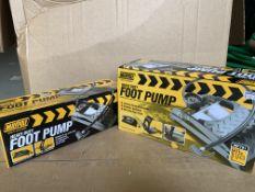 6 X BRAND NEW MAYPOLE HEAVY DUTY FOOTPUMPS