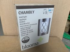 10 X BRAND NEW BLOOMA CHAMBLY WALL LIGHTS