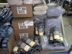 70 PIECE MIXED LOT INCLUDING SYNTHETIC CHAMOIS, POLISHING CLOTH, CLEANING CLOTH ETC