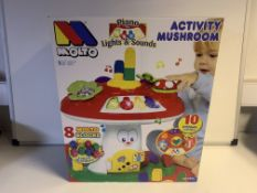 6 X BRAND NEW BOXED MOLTO ACTIVITY MUSHROOMS RRP £49.99 EACH