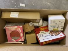 75 PIECE AMAZON END OF LINE LOT INCLUDING COOKIE CUTTER SETS, CLEANING PADS, LED NIGHT LIGHTS,