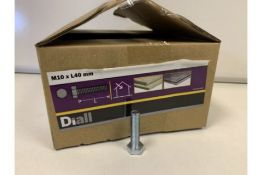 20 X 4KG BOXES OF DIALL M10 X L40MM HEX BOLTS LOOSE (191/20)