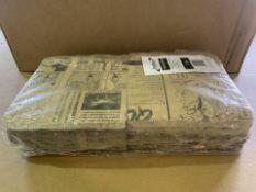 8 X BRAND NEW PACKS OF GENWARE GREASEPROOF PAPER BAGS BROWN NEWSPAPER PRINT 17.5 X 17.5CM RRP £40