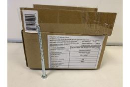 20 X 4KG BOXES OF BRAND NEW DIALL COACH SCREWS, ZINC PLATED HEX 8 X 140MM LOOSE 189/20)