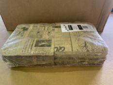 7 X BRAND NEW PACKS OF GENWARE GREASEPROOF PAPER BAGS BROWN NEWSPAPER PRINT 17.5 X 17.5CM RRP £40