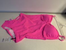 30 X BRAND NEW LEPEL PINK SWIMSUITS SIZES 8/10/12/14 (132/20)