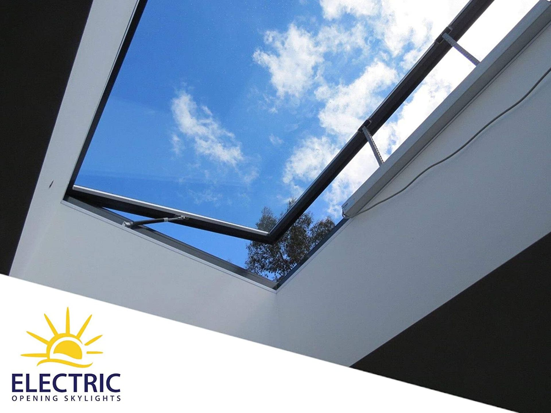 Panoroof (EOS) Electric Opening Skylight 800x1800mm - Aluminiun Frame Double Glazed Laminated Self- - Image 2 of 6