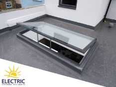 Panoroof (EOS) Electric Opening Skylight 800x1200mm - Aluminiun Frame Double Glazed Laminated Self-