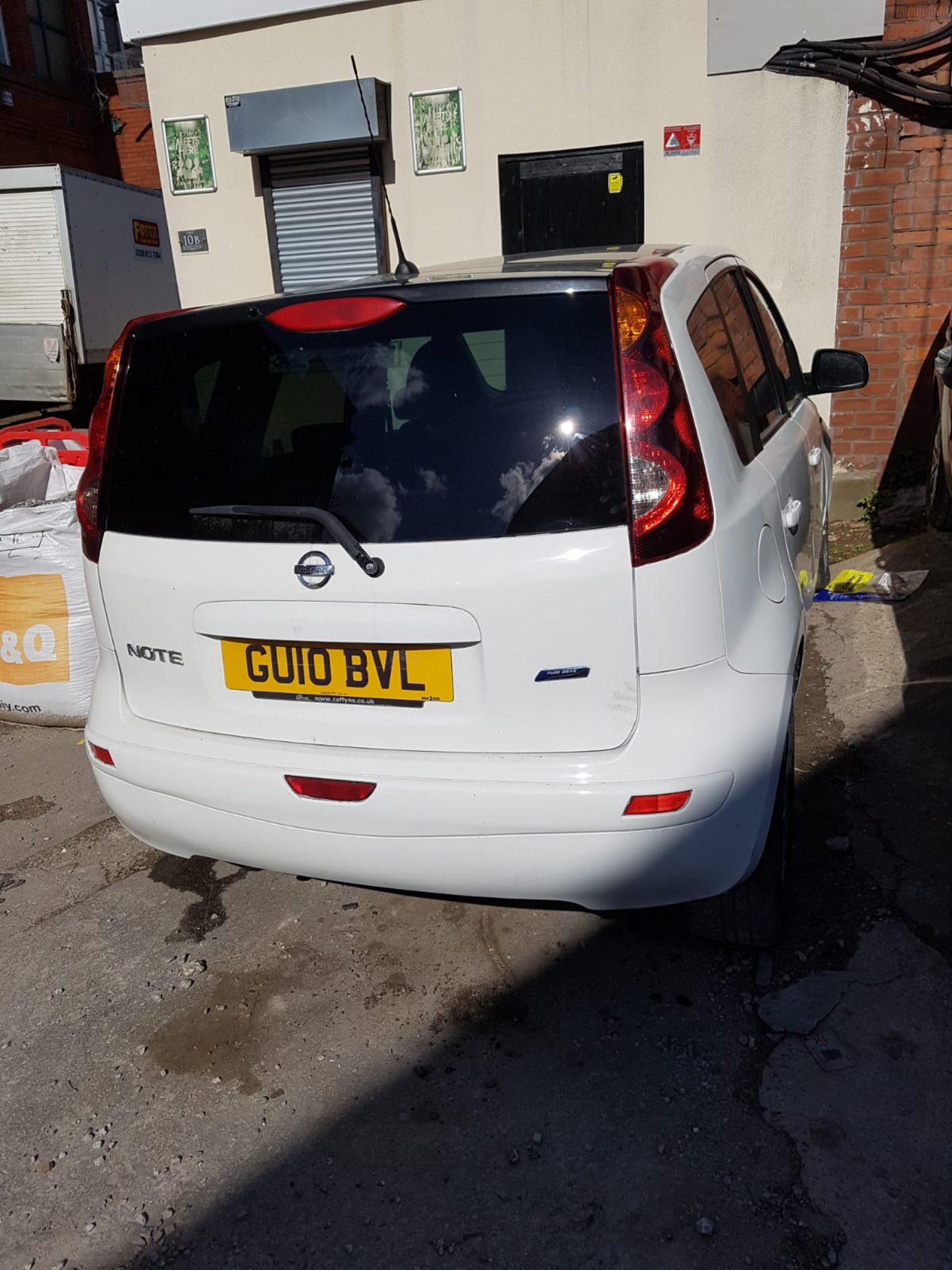 WHITE NISSAN NOTE 2010 GU10 BVL 61000 MILES COLLECTION MANCHESTER - Image 3 of 4