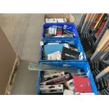 4 TRAYS TO INCLUDE A VERY LARGE QTY OF COMUTING AND PHONE ITEMS SUCH AS MINI LAPTOP, BELKIN ITEMS,