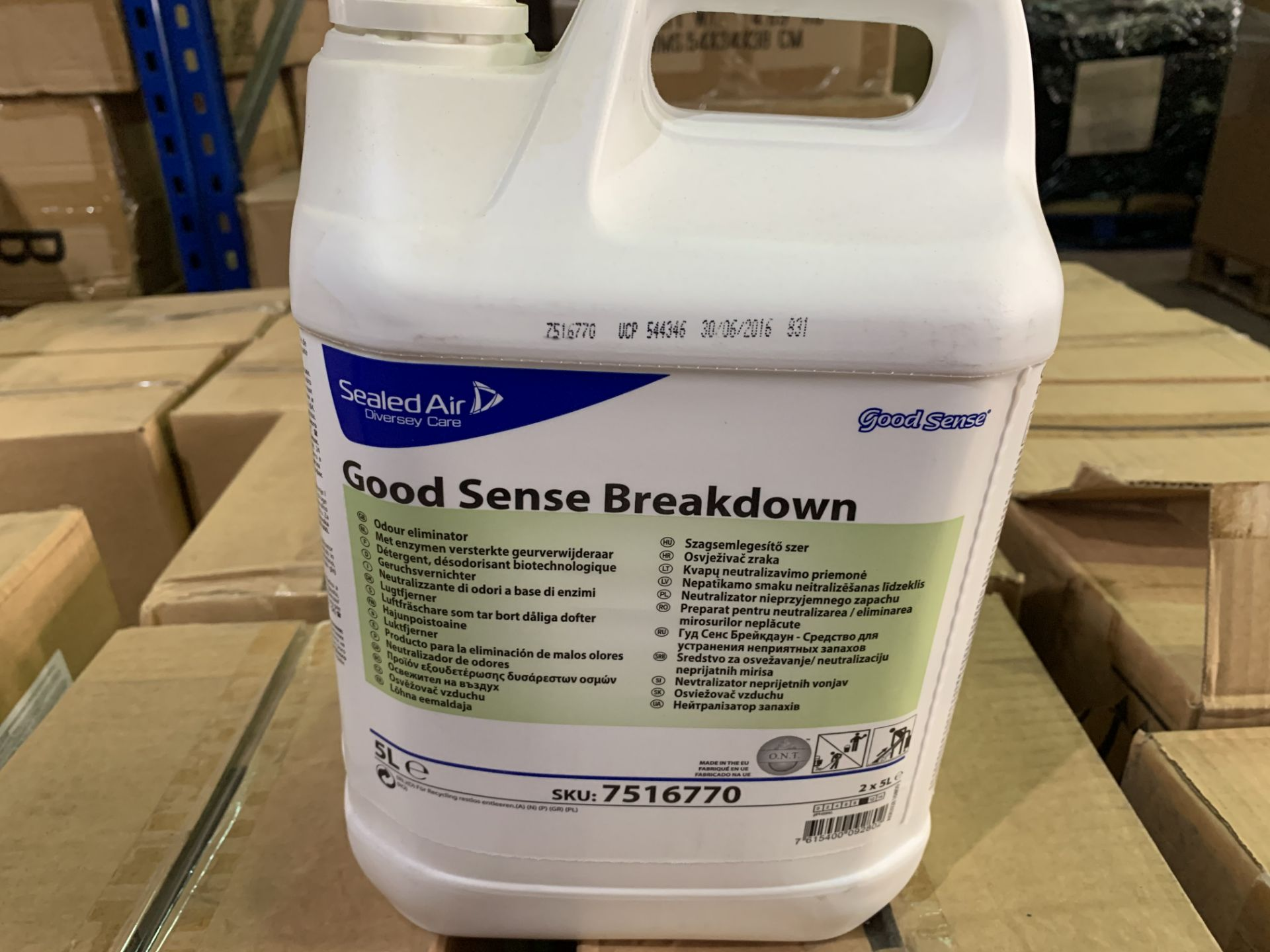 24 X BRAND NEW 5L TUBS OF DIVERSEY CARE GOOD SENSE BREAKDOWN