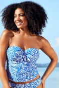 13 X BRAND NEW INDIVIDUALLY PACKAGED FIGLEAVES CAPE COD UNDERWIRED TWIST BANDEAU TANKINI TOP COLBALT