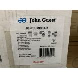 NEW BOXED JG SPEEDFIT JG-PLUMBOX-2. RRP £201.90. EACH BOX CONTAINS: 20x 15mm Tee. 5x 22mm Tee. 10x