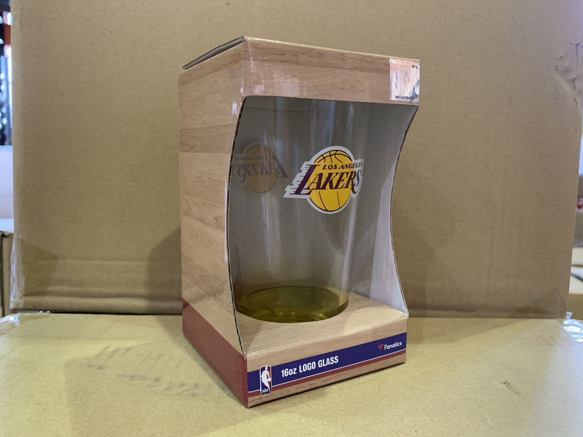 25 X BRAND NEW INDIVIDUALLY RETAIL PACKAGED LA LAKERS 160Z GLASS (1246/27)