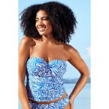 10 X BRAND NEW INDIVIDUALLY PACKAGED FIGLEAVES CAPE COD UNDERWIRED TWIST BANDEAU TANKINI TOP COLBALT