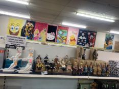 30 X VARIOUS ORNAMENTS AND FIGURES INCLUDING MONKEYS, MAGGIE DOUGAL ETC